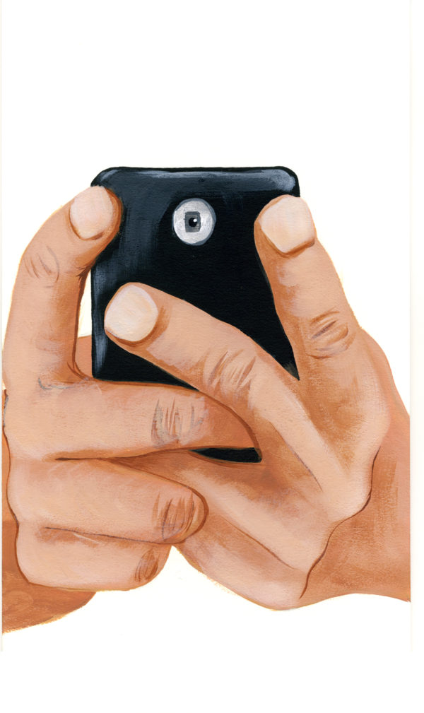Cell Phone & Hands No.14